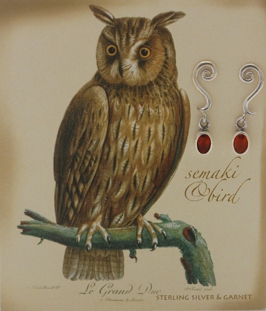 """Owl"" Gem Earrings"
